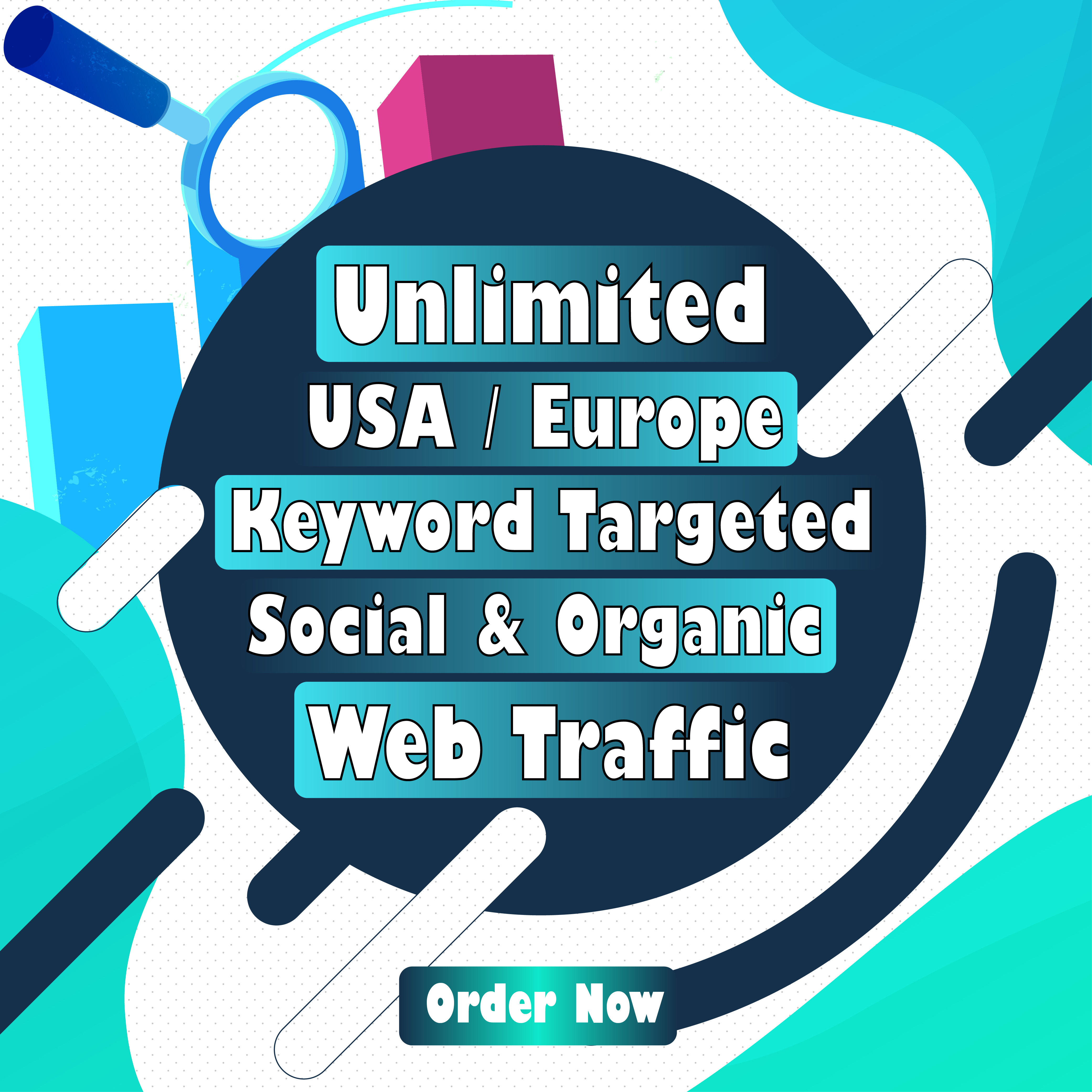 I will Drive 100 - 200 Daily Real Visitors for 30 days from 3 different social media sites