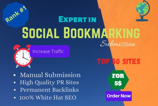 I will create high quality 50 bookmarking of social sites for SEO ranking