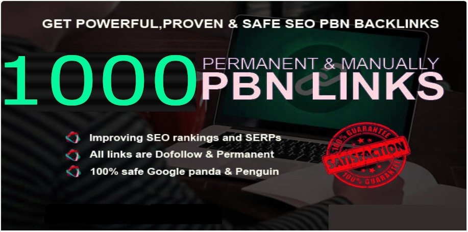 Buy 1000+ parmanent backlink with DA/PA/TF/CF in your hompage withg unique we