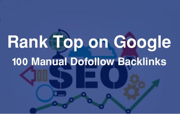 we will create manually 100 do follow backlinks