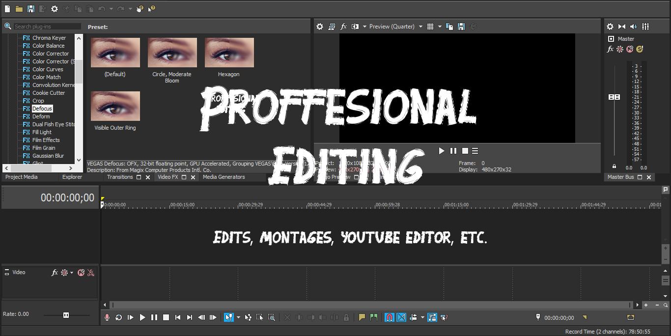 I will proffessionaly edit videos