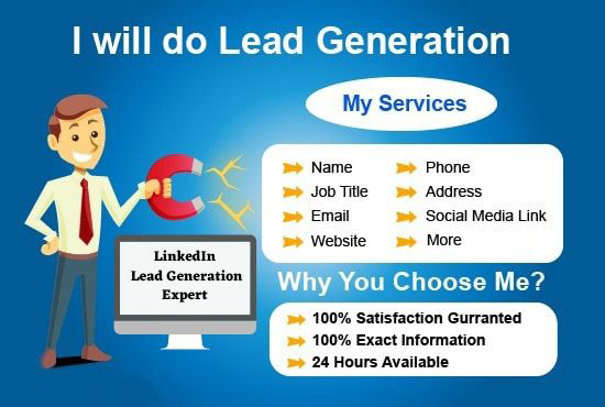 I will generate targeted lead generation of LinkedIn,  b2b,  company,  verified emails