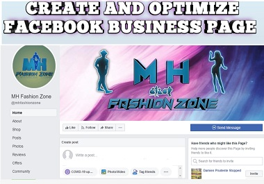 create,  optimize and design facebook business page