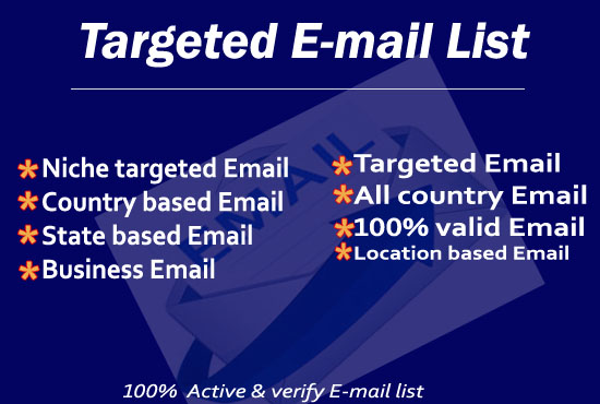 I will find 2k Email valid targeted niche list for you