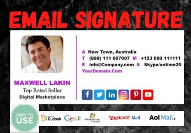 I Will Create Your HTML & Clickable Email Signature