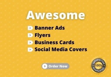 I will design amazing Banner Ads or Redesign