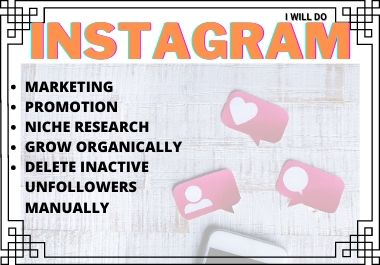 I Will Manage & Grow Your Instagram Marketing
