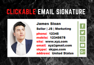 I Will Create Clickable Email Signature with HTML Code