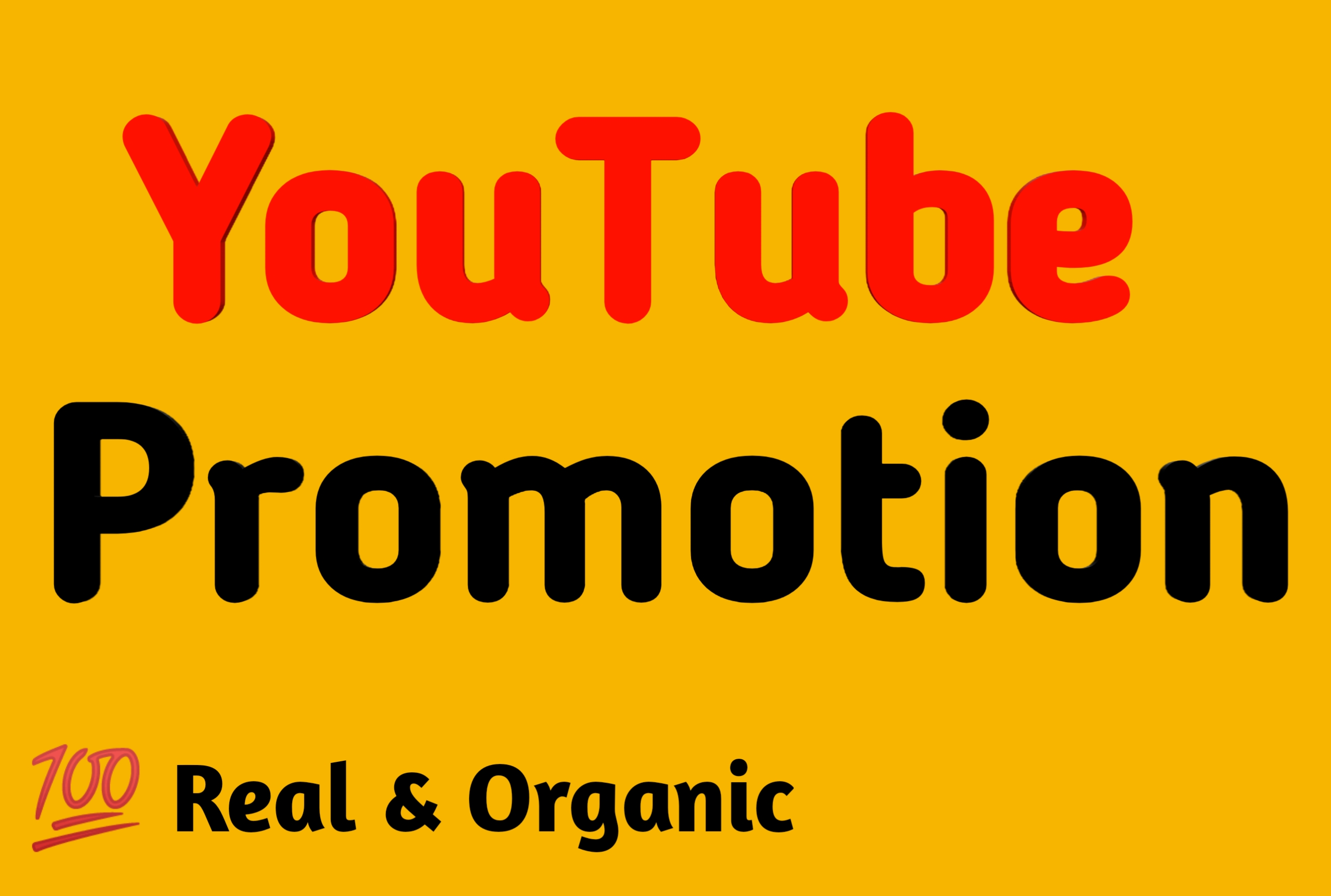 Organic YouTube promotion, Real & Genuine