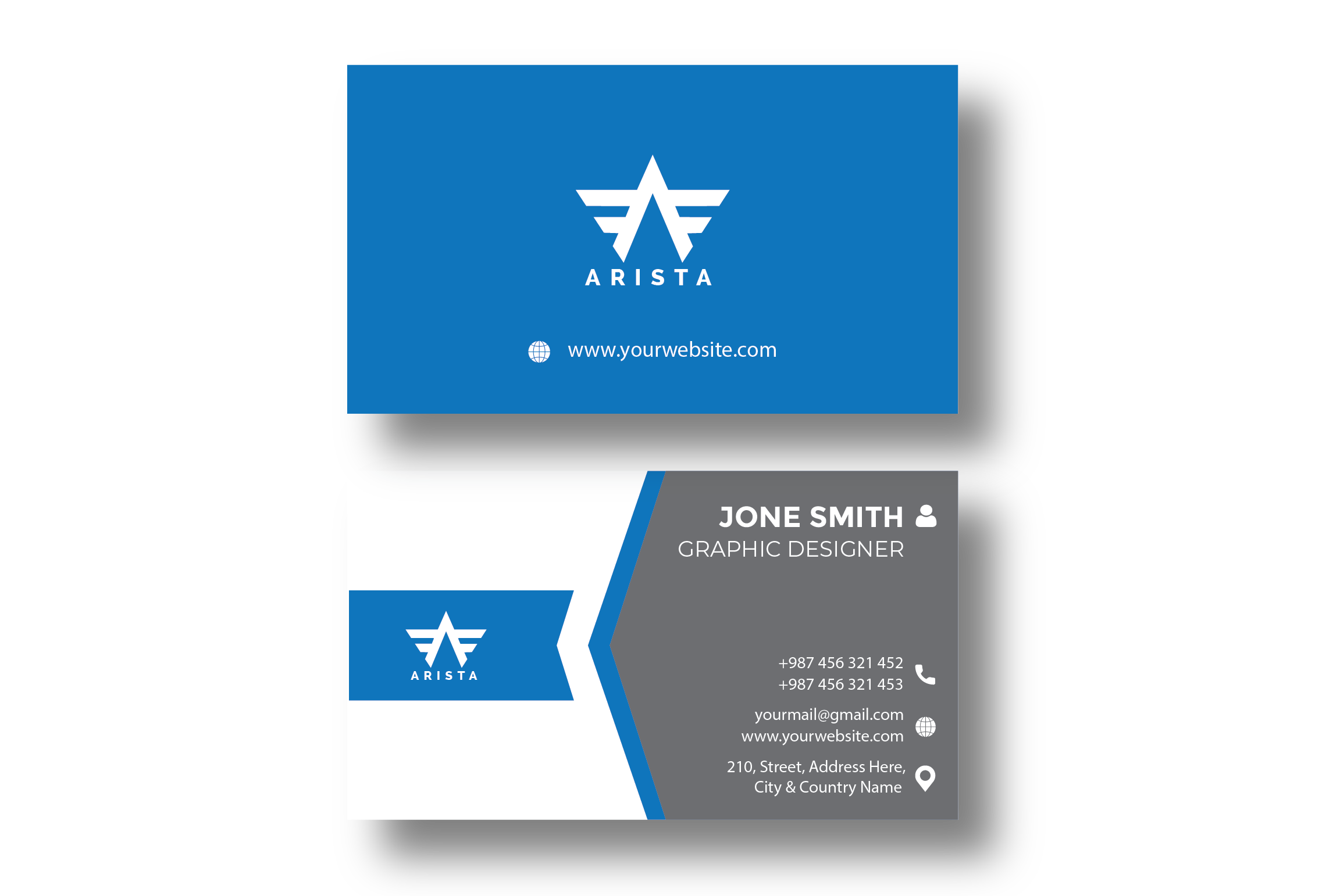 I will create business card design two concept for you
