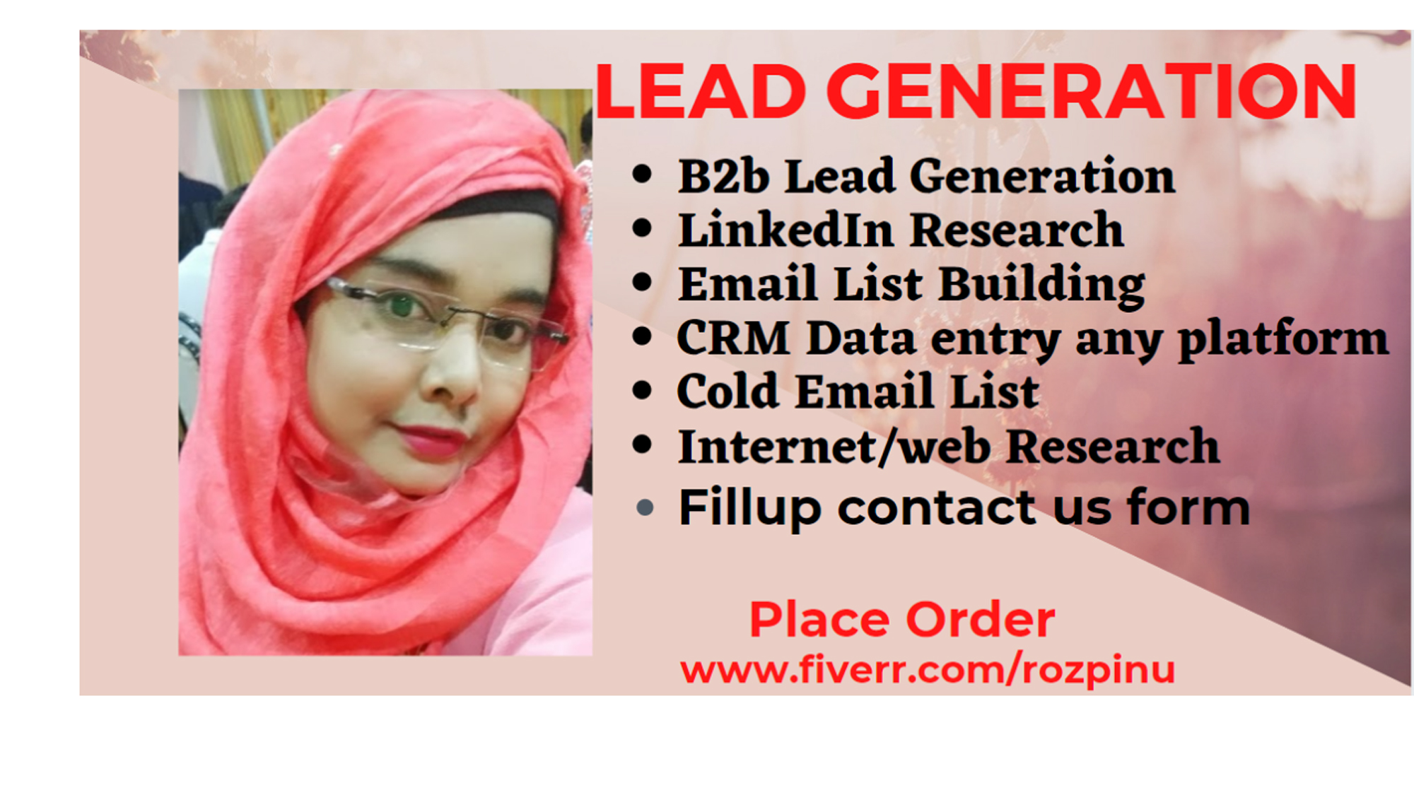 I will do b2b lead generation targeted contact and email list building