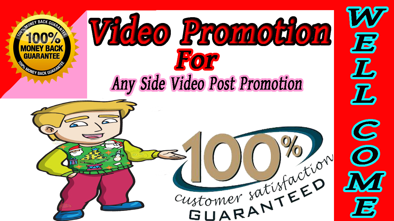 Need promotion via real users seo for YouTube