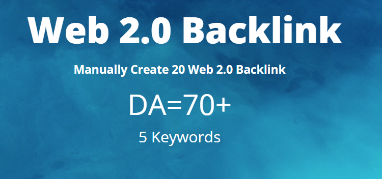 I will provide 20 HQ Handmade Web 2.0 backlinks with DA70+ to boost your website SEO