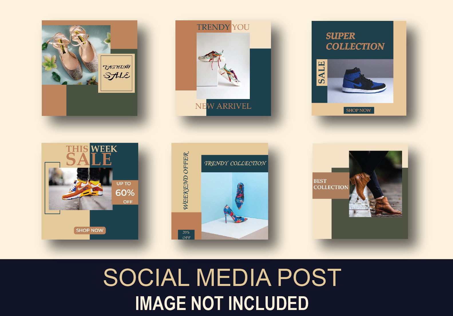 I will provide you 25 Social post Design for your targated niches.