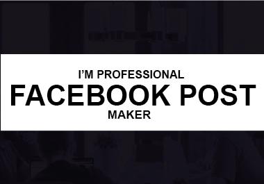I'm Professional Facebook Post Maker