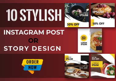 I will create 10 stylish Instagram post or story design
