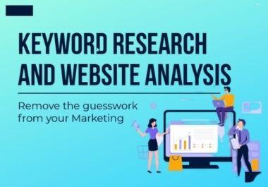 I will run in depth keyword research