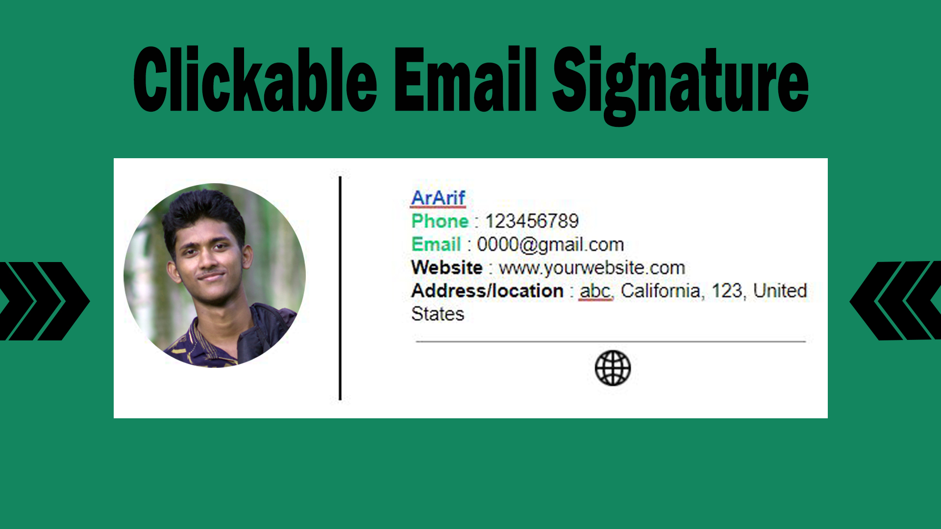 I will make clickable email signature