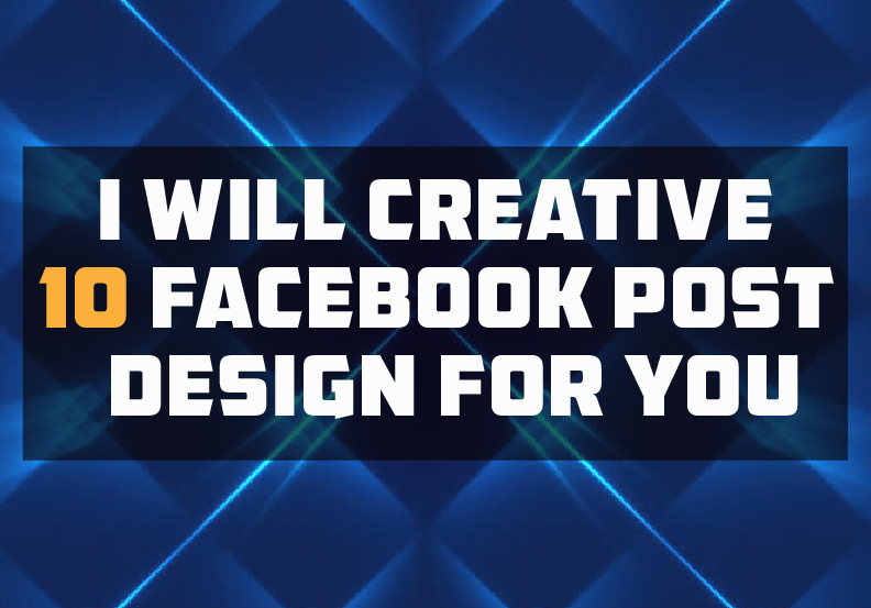 i will creative 10 facebook post design for you