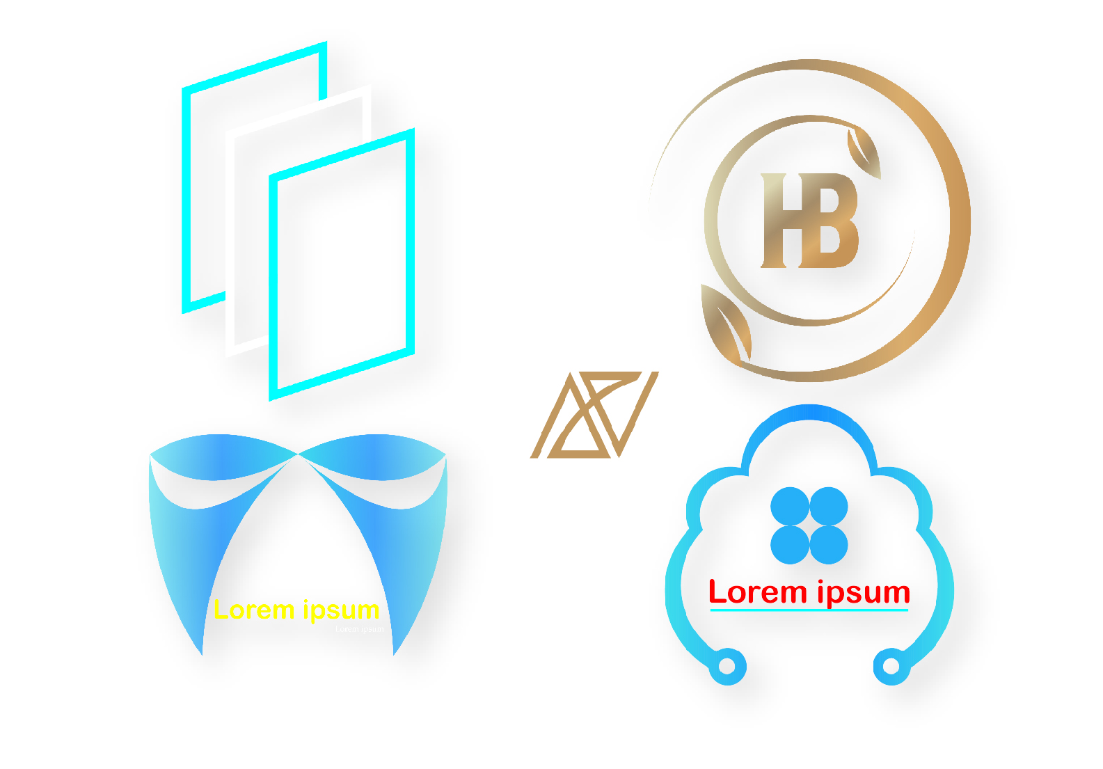 I will create modern minimalist and watermark logo for you