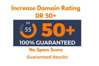I will increase ahrefs domain rating dr 50 to 60 plus fast