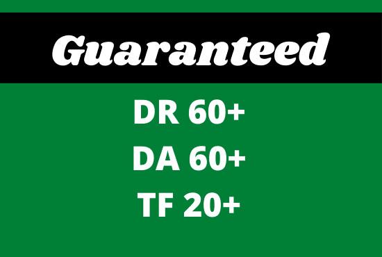 I will increase ahrefs domain rating DR domain authority da tf