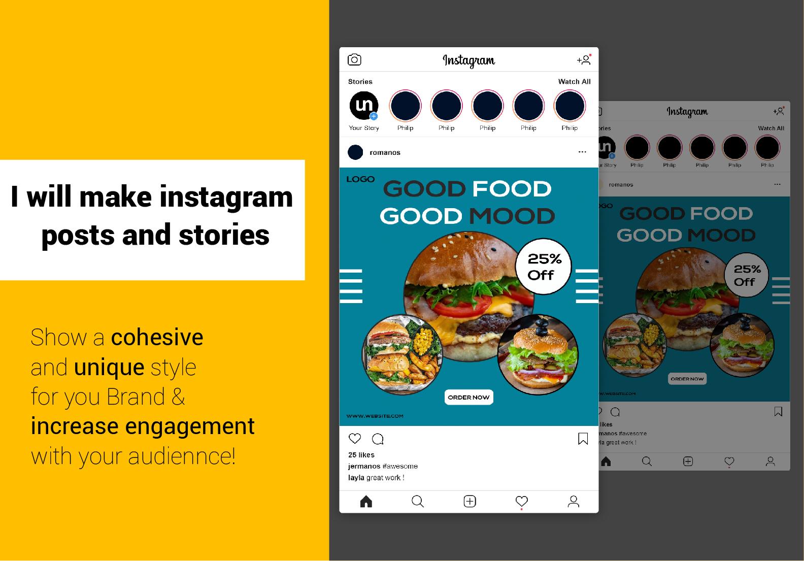 I will do 10 creative Instagram post or social media design