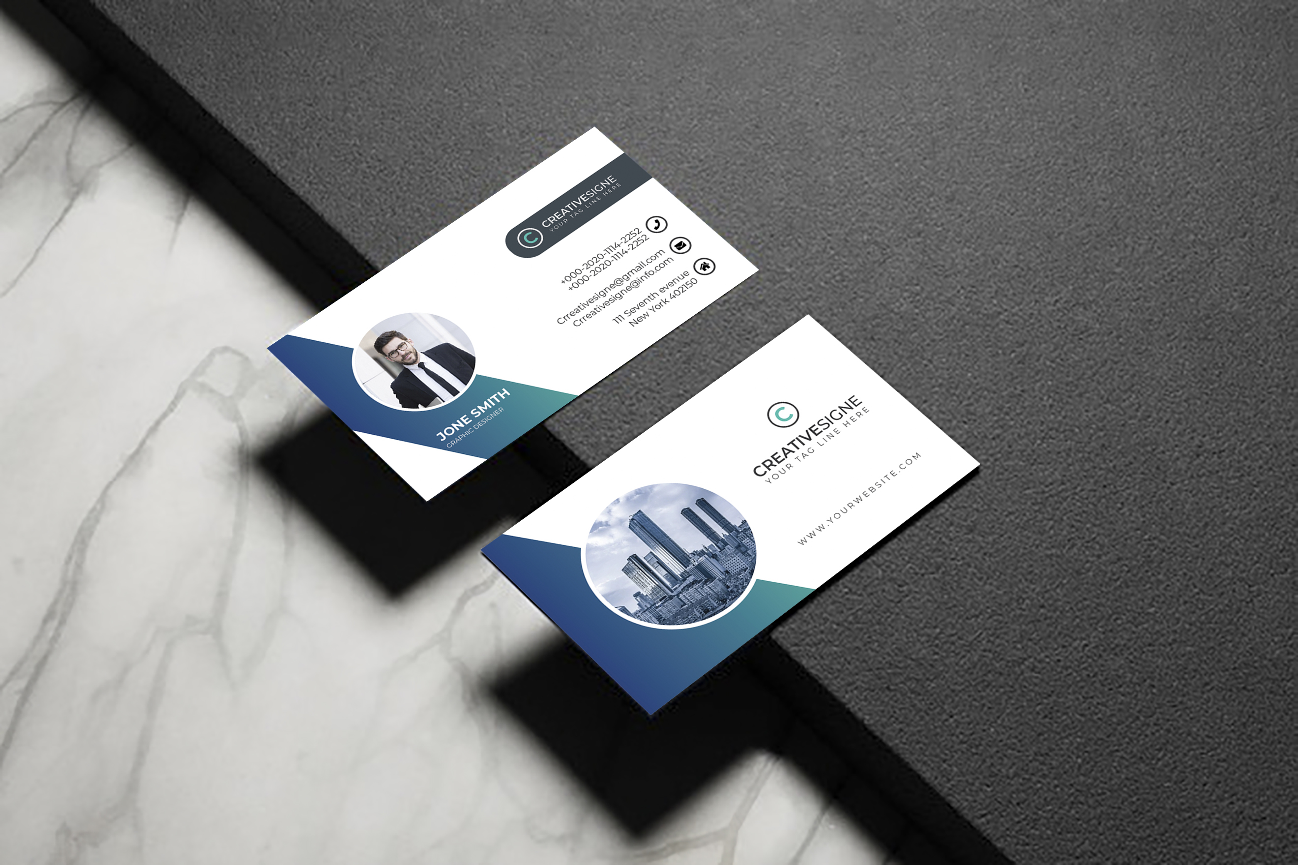 I will do creative business card design in 24H