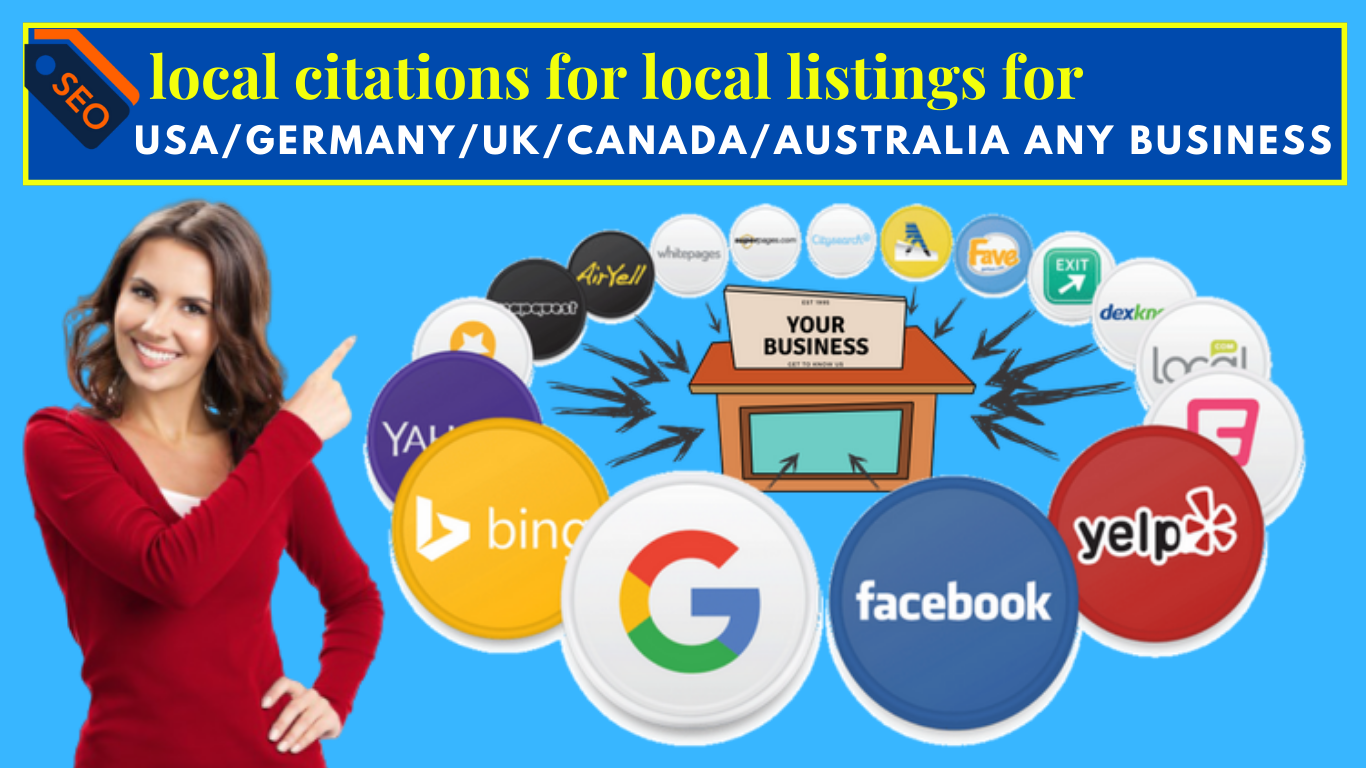 Get Accurate 30 local citations for local listings for USA/Germany/UK/Canada/Australia any business