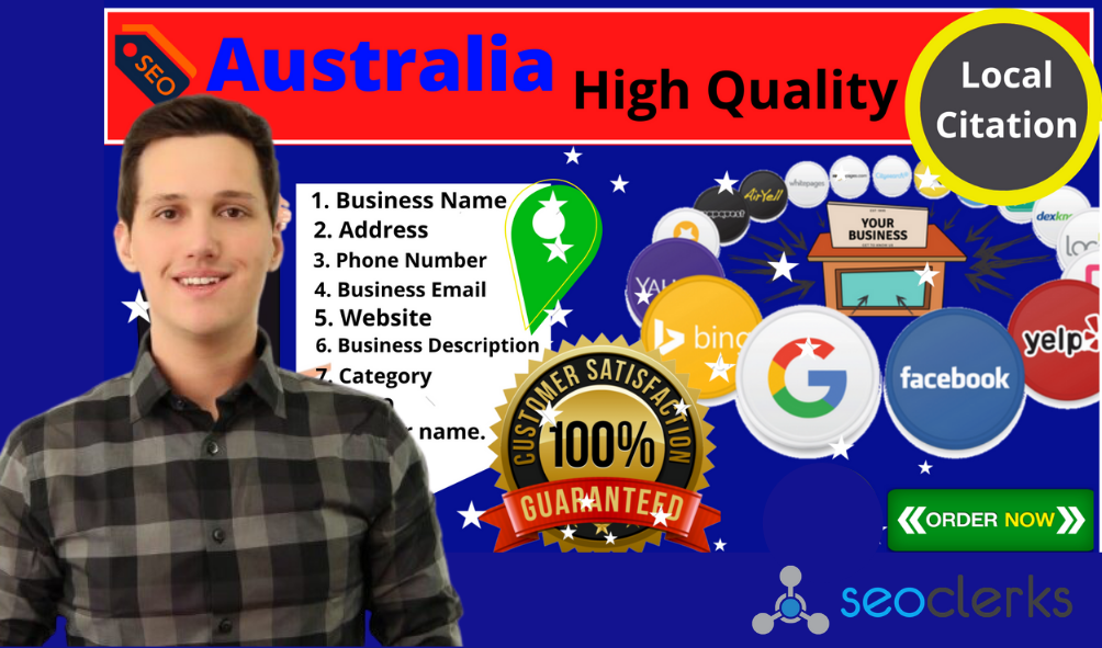 Get accurate australia 100+ local citations for your businesses