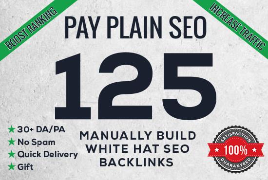 create 125 high da pa quality backlinks