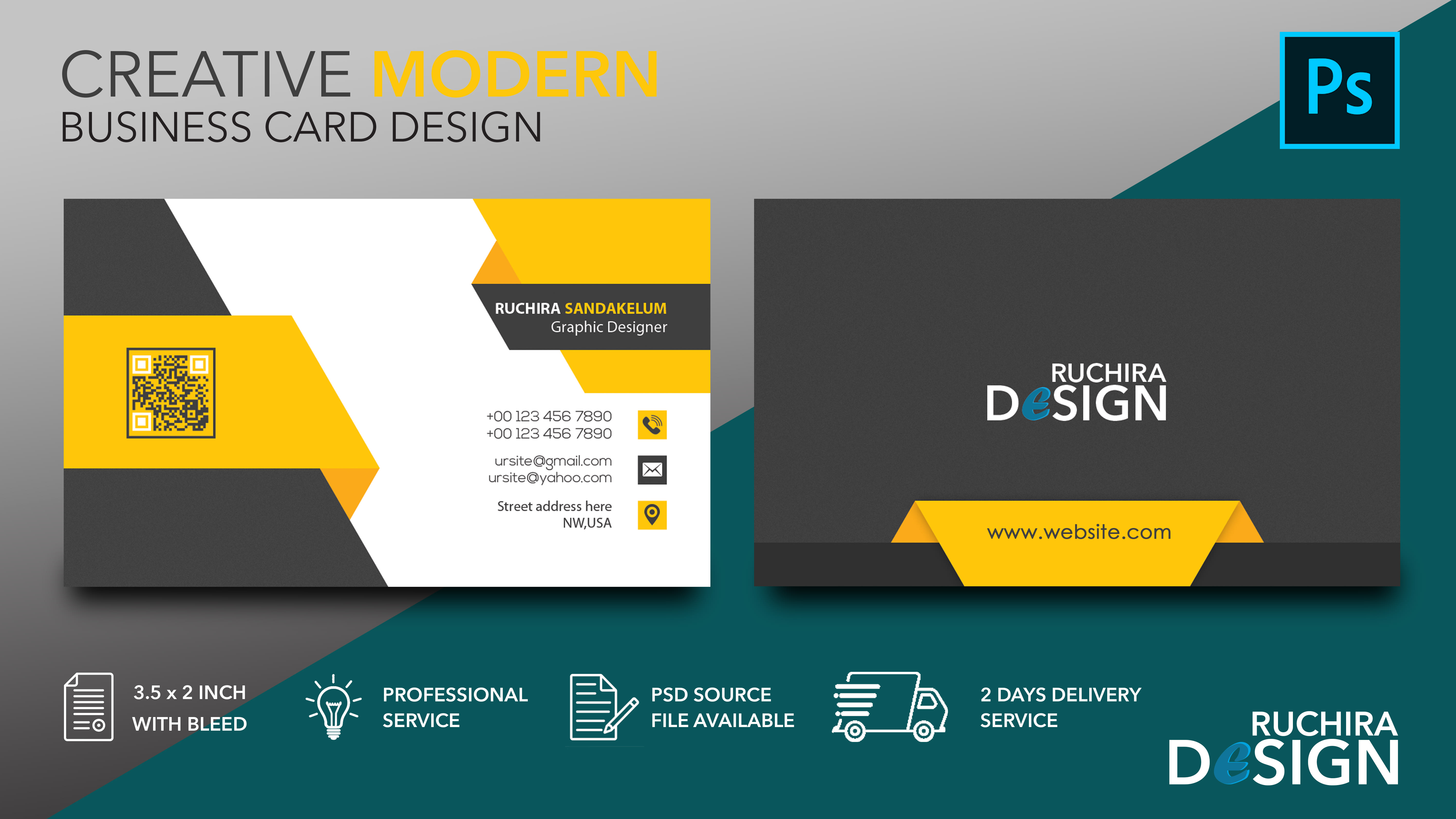 I will do creative modern and affordable business card design