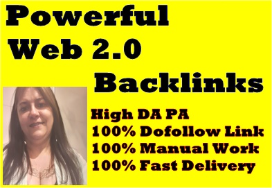Manually create 20 high quality DA60-90+TF20-80 & 0 spam score web2.0 backlinks