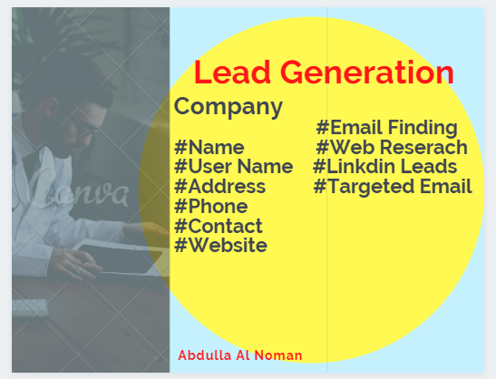 I will be 100 b2b Lead Generation and Targeted Email
