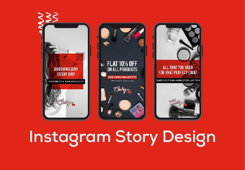 I will design 10 stunning Instagram story design
