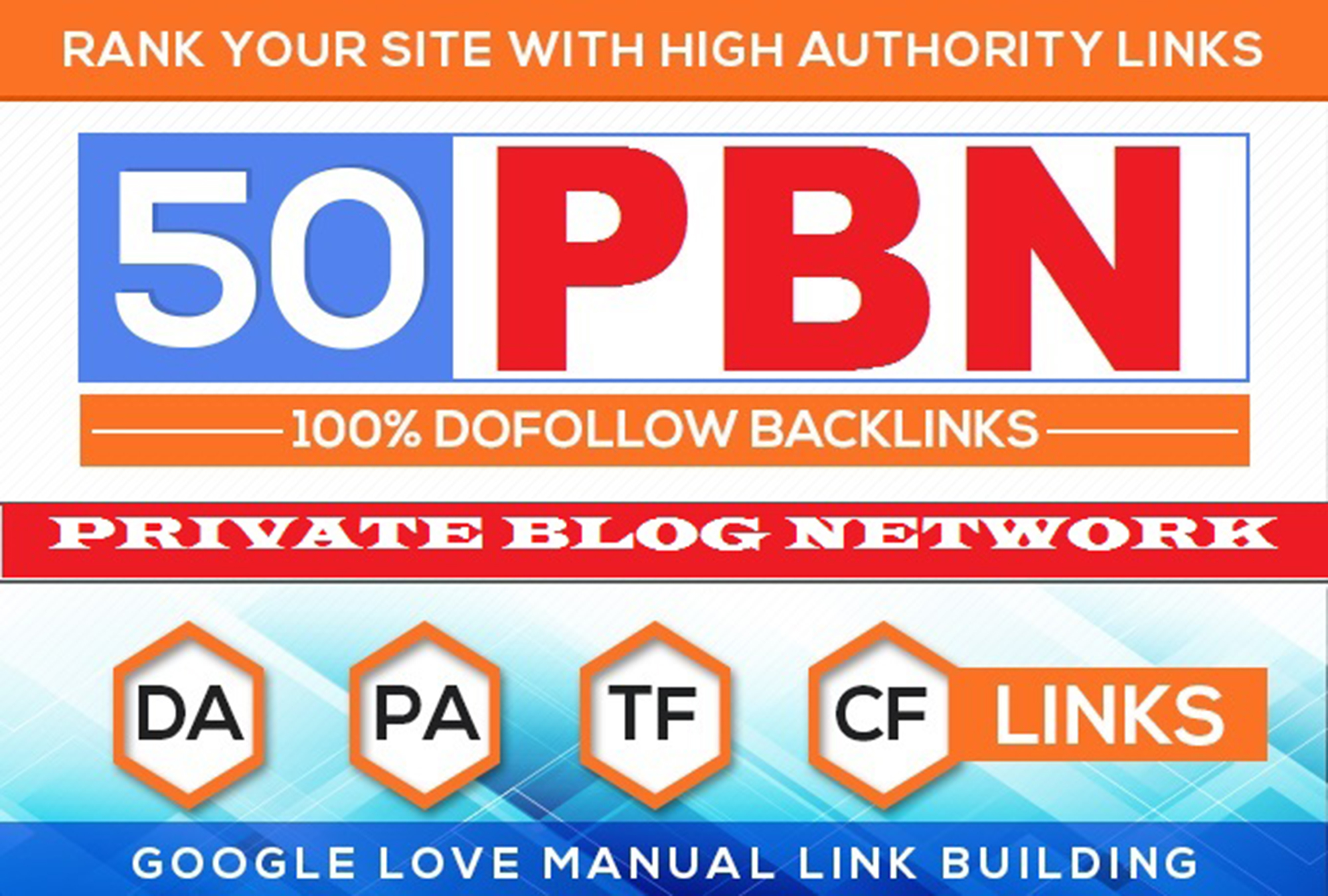 Build 50 HomePage PBN Backlinks All Dofollow Quality Links,  SEO service