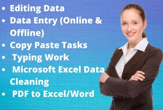 I will do data entry copy paste work precisely