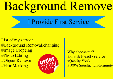 I will remove background from 5 images in 24 hours quickly delivery