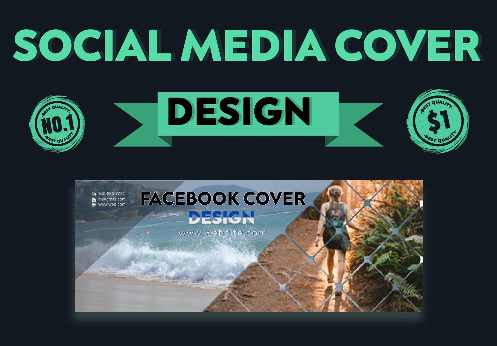 I will Design a Unique Social Media cover photo
