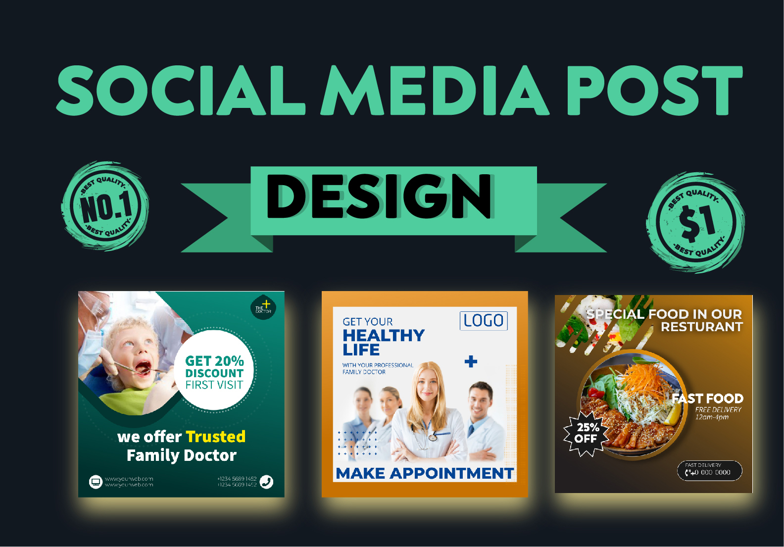 I will Design amazing social media post for you