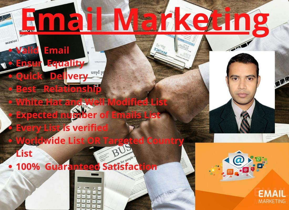 I Will do Create 5000 Email List manually For Email Marketing