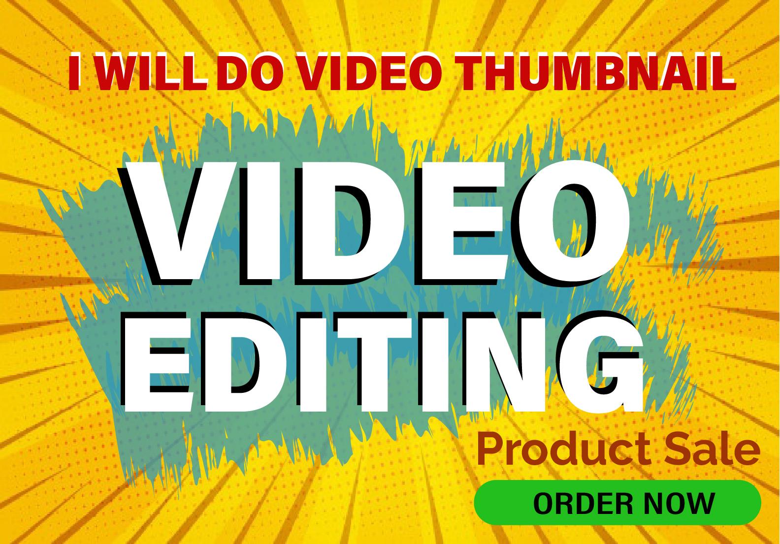 I will do video thumbnail youtube thumbnail