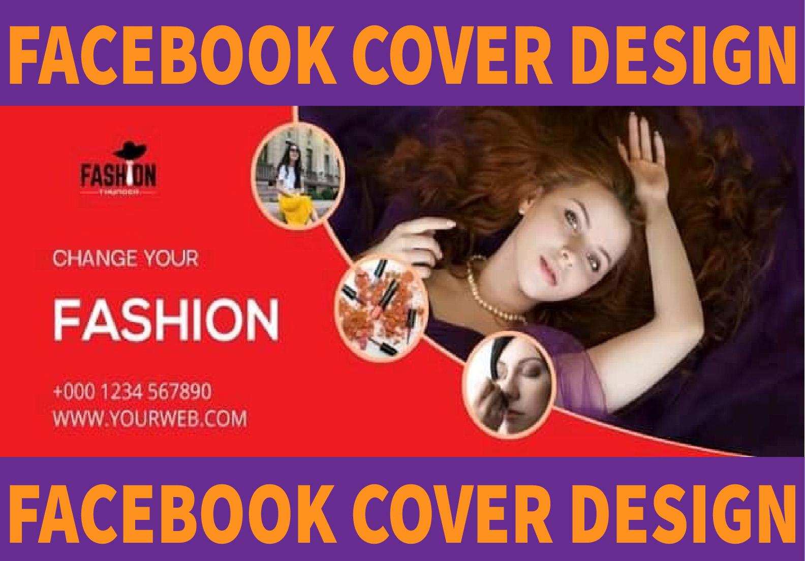 I will design facebook cover,  art,  web banner,  logo design