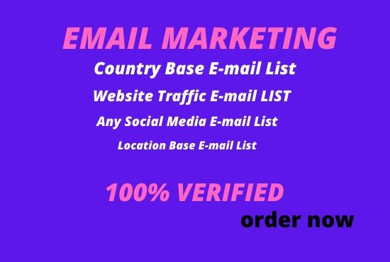 I will collect your targeted email list to increase your business space