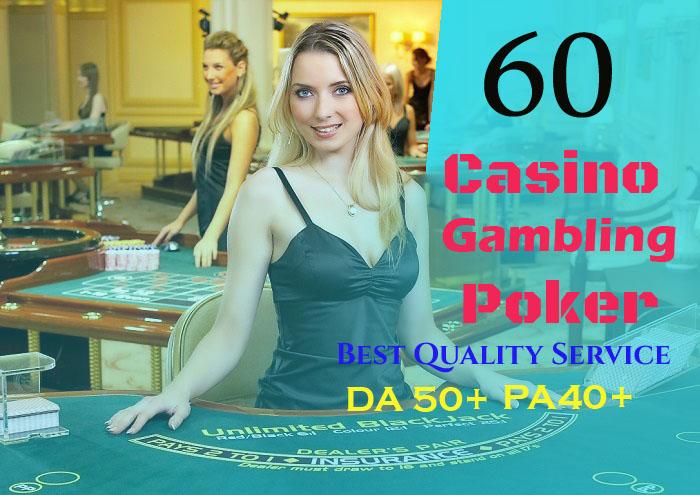 60 permanent DA 50-40+ PBN Backlinks Casino,  Gambling,  Poker,  Judi Related Websites