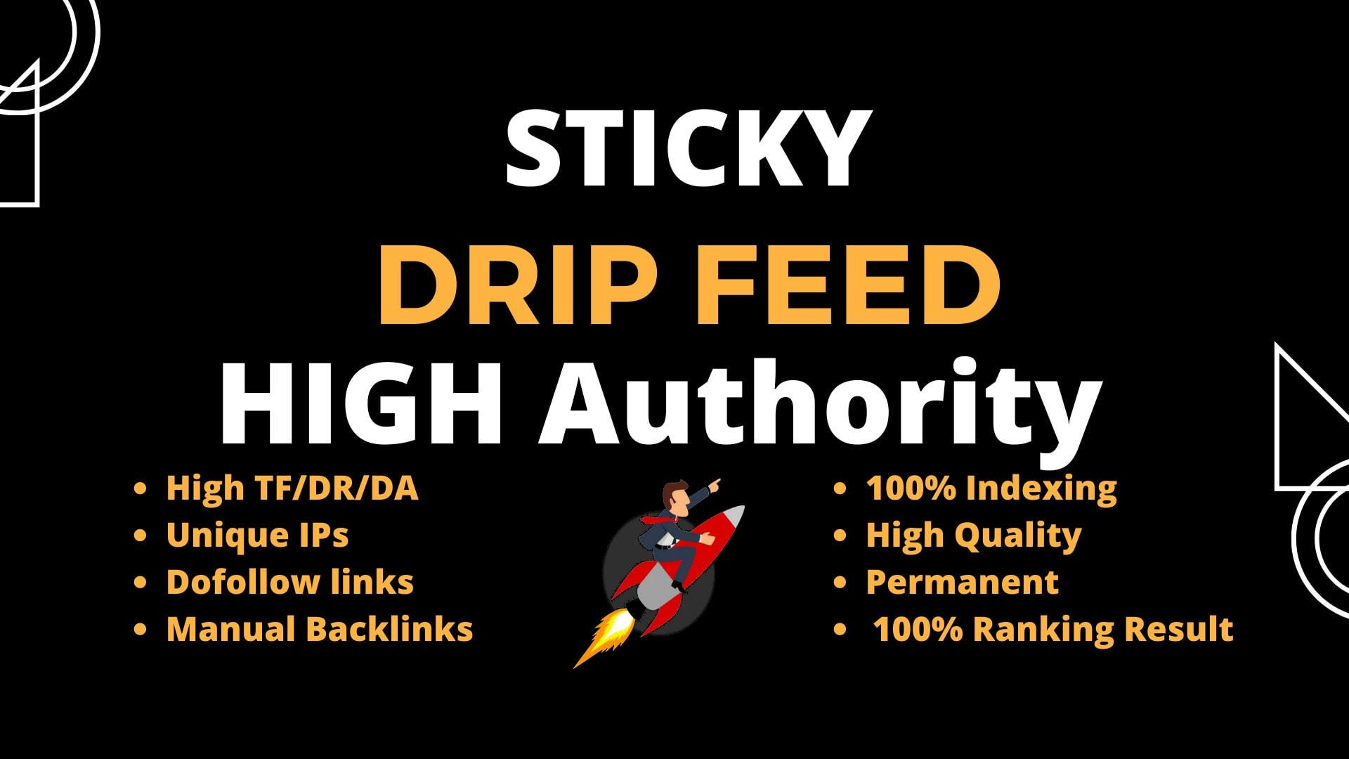 Build 30 days drip feed high quality dofollow backlinks off page seo