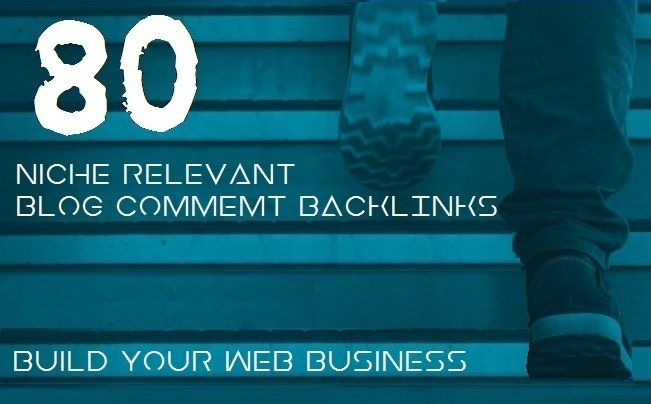I will provide 80 niche relevant blog comments