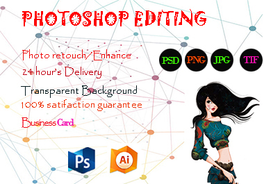 I will do any Photoshop editing and image retouching