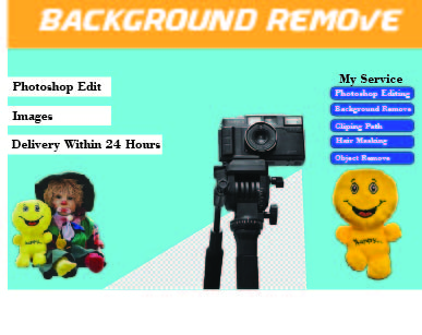 I will do background removal and transph