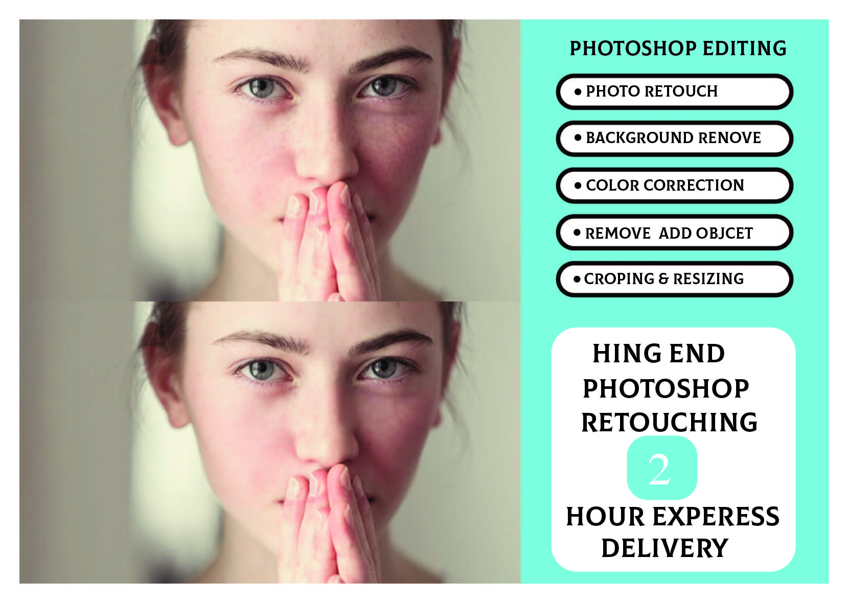 I will do professional photoshop photo retouch and edit